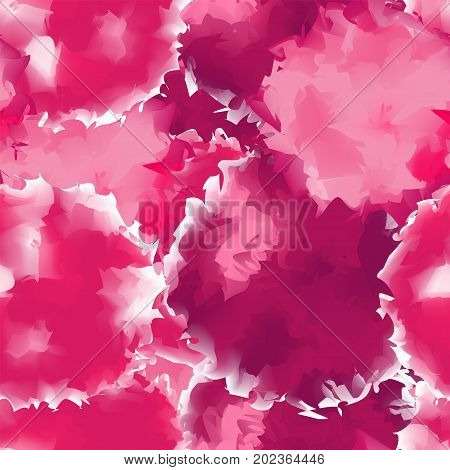 Pink Seamless Watercolor Texture Background. Magnificent Abstract Pink Seamless Watercolor Texture P