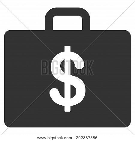 Business Case vector icon. Flat gray symbol. Pictogram is isolated on a white background. Designed for web and software interfaces.