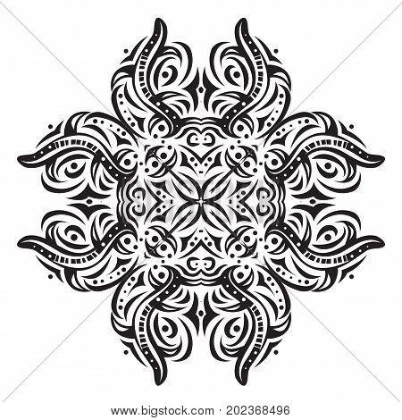 Abstract black design element. Illustration 10 version