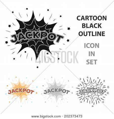 Jackpot, winnings at the casino. The greatest win in the game club.Kasino single icon in cartoon style vector symbol stock web illustration.