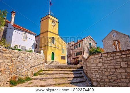 Island Of Zlarin Old Mediterranean Village View