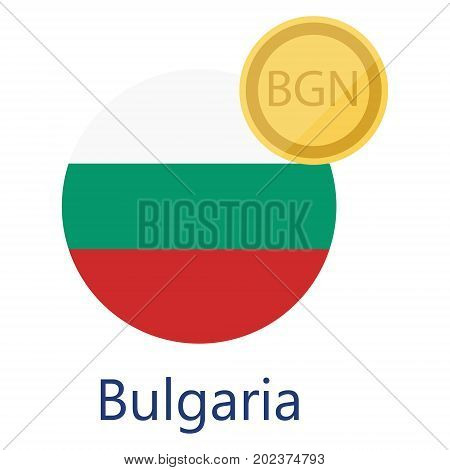 Bulgarian Flag And Currency