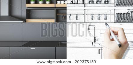 Kitchen Sketch Concept