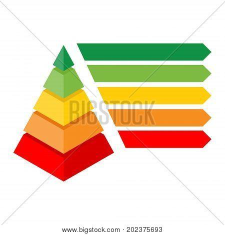 Isometric Pyramid Chart