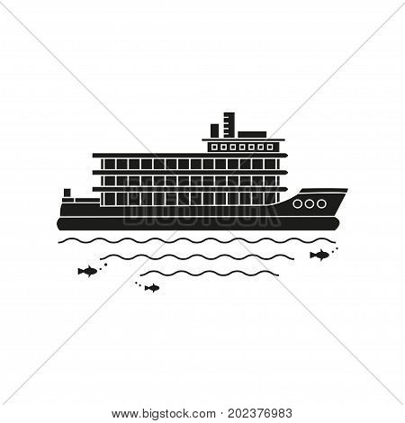 Nautical vehicles: sail boat ship vessel speedboat. Vector icon isolated on white background.