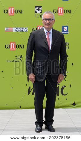 Giffoni Valle Piana Sa Italy - July 17 2017 : Franco Roberti at Giffoni Film Festival 2017 - on July 17 2017 in Giffoni Valle Piana Italy