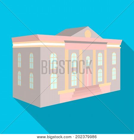 The architectural building of the museum. The Museum single icon in flat style vector symbol stock illustration .