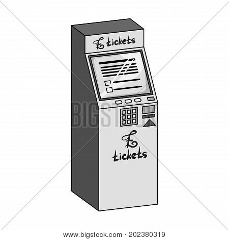 Terminal for ticket sales. Terminals single icon in monochrome style isometric vector symbol stock illustration .