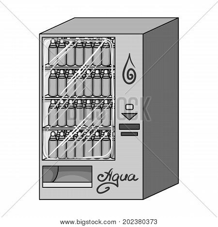 Terminal for the sale of bottled water. Terminals single icon in monochrome style isometric vector symbol stock illustration .