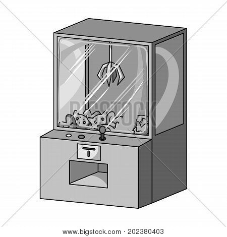 Game terminal with toys. Terminal single icon in monochrome style isometric vector symbol stock illustration .