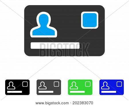 Banking Card vector icon. Style is a flat graphic symbol in black, grey, blue, green color variants. Designed for web and mobile apps.