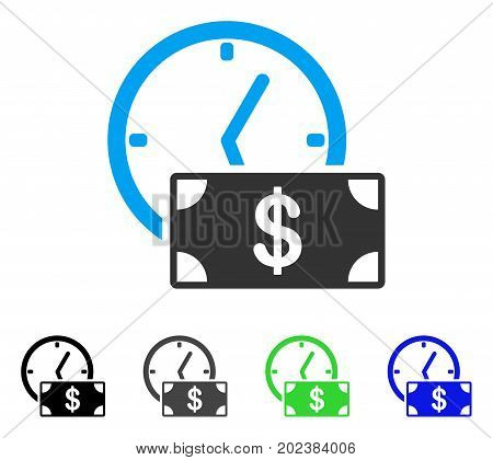Dollar Credit vector pictogram. Style is a flat graphic symbol in black, gray, blue, green color versions. Designed for web and mobile apps.