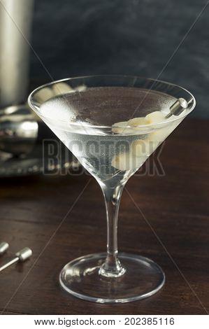 Homemade Boozy Gibson Martini