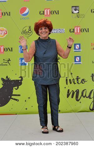 Giffoni Valle Piana Sa Italy - July 21 2017 : Valeria Fedeli at Giffoni Film Festival 2017 - on July 21 2017 in Giffoni Valle Piana Italy