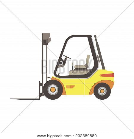 Forklift icon truck vector warehouse isolated illustration lift cargo loader box