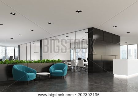 Blue Armchair Waiting Area And Reception