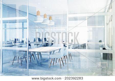 Glass Meeting Room, Corner Toned