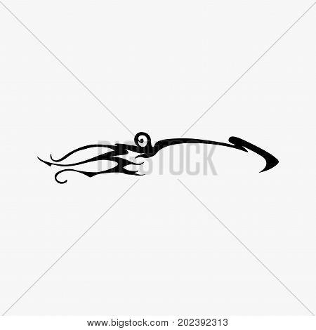 Vector squid silhouette logo. Calamary logotype design