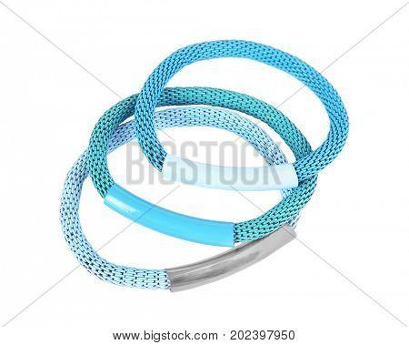 Elastic hairbands isolated on white