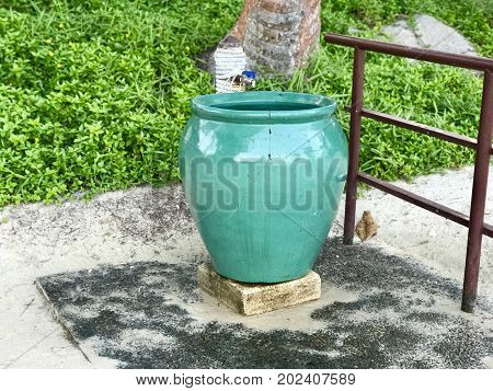 Beach Rinse Shower Station with green pot to save water