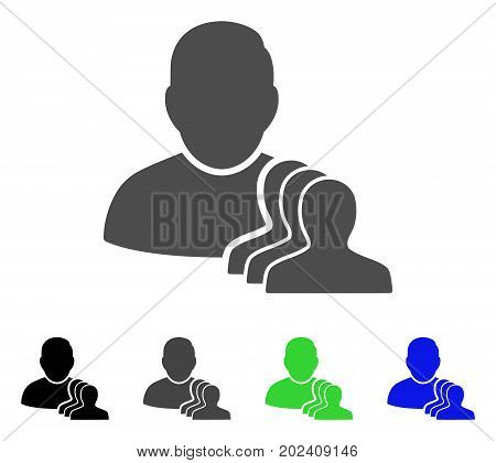 User Pawns vector pictograph. Style is a flat graphic symbol in black, grey, blue, green color variants. Designed for web and mobile apps.
