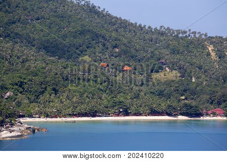 Koh Phangan Thailand Thong Nai Pan Noi beach and sea water . Koh Phangan Island is one of the most popular destinations for tourists