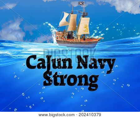The Cajun Navy Strong in deep blue waters.