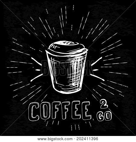 Black And White Coffee To Go Poster