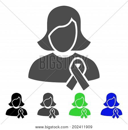 Solidarity Tie vector pictogram. Style is a flat graphic symbol in black, grey, blue, green color versions. Designed for web and mobile apps.