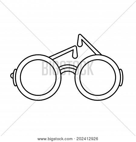 uncolored sunglasses over  white background vector illustration