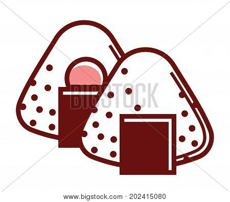Delicious unusual sweet Japanese mochi dessert with tasty filling made of fruits isolated cartoon flat vector illustration on white background. Simple cakes that consist of glutinous rice dough.
