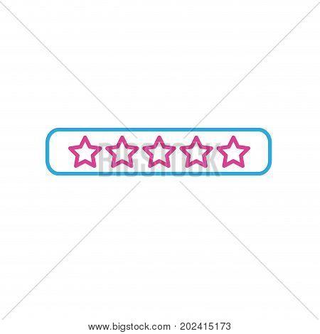 line rating stars bar to choose the favorite vector illustration