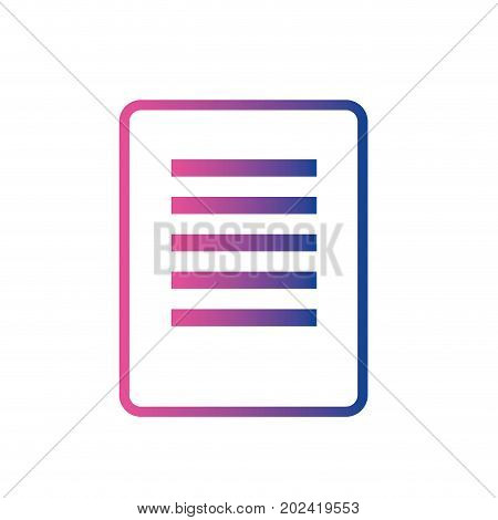 line business document information and order paperwork vector illustration