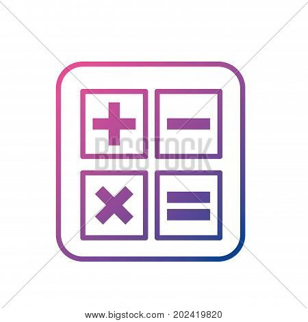 line calculator technology to mathematics account report vector illustration