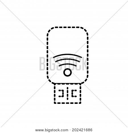 dotted shape usb memory technology to save data information vector illustration