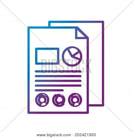 line business documents with statistics diagram graphy vector illustration