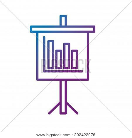 line presentation business document with statistics bars graphy vector illustration