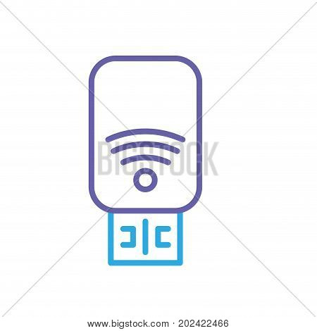 silhouette usb memory technology to save data information vector illustration