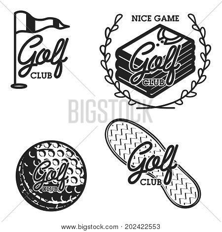 Vintage golf club emblems. Golf championship, golf gear and equipment badge logo. Vector illustration, EPS 10