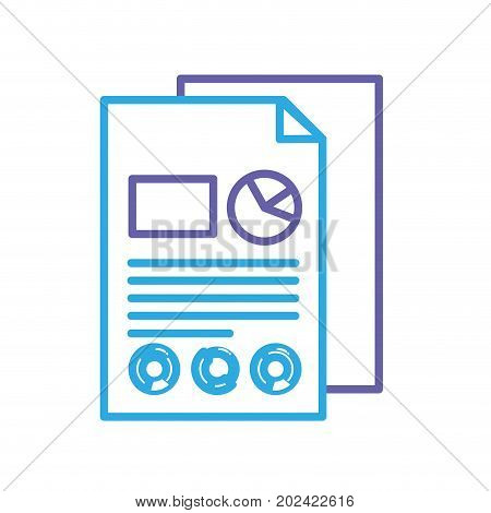 silhouette business documents with statistics diagram graphy vector illustration poster