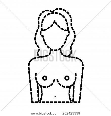 dotted shape breast cancer prevention to medical treatment vector illustration