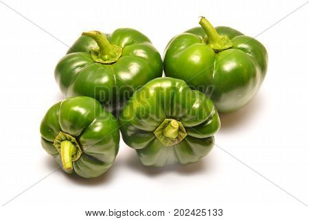 flat bell pepper isolated on white background