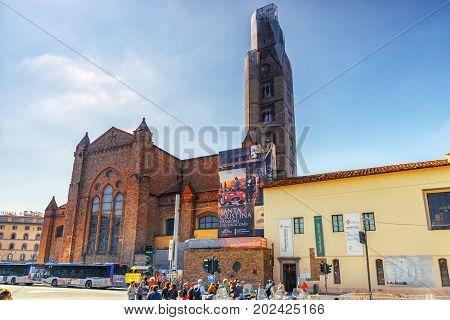 Florence, Italy - May 15 ,2017: Cappella Del S.s Sacramento, Santa Maria Novella, Basilica Di Santa