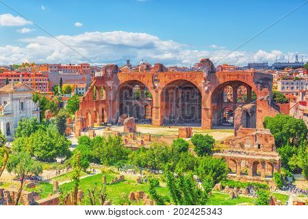 Archaeological And Historical Objects In Rome, United By The Name - Roman Forum And Palatine Hill. B