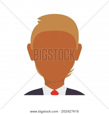 colorful  executive man  avatar over white  vector illustration