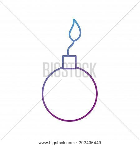 line nuclear bomb explosion dangerous weapon vector illustration