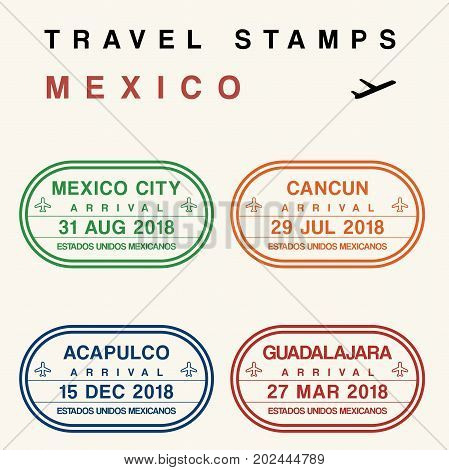 Mexico Travel Stamps