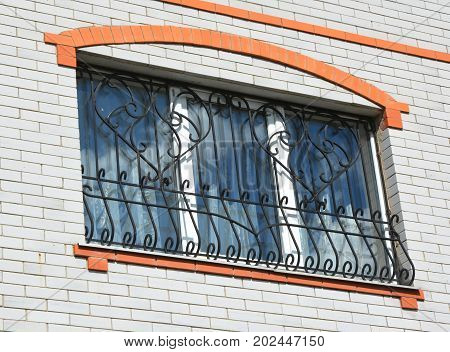Metal Grid For Window. Security Bars. House window iron security bars. Security bars for window.