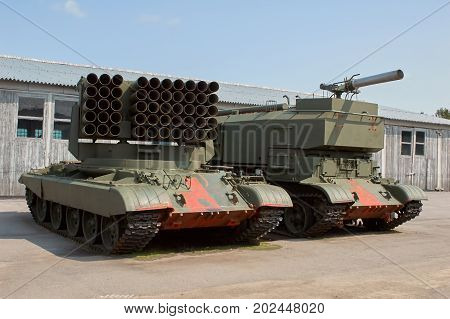 MOSCOW REGION RUSSIA - JULY 30 2006: the Tank Museum Kubinka near Moscow
