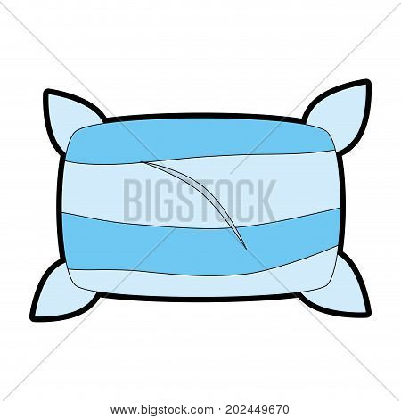 Comfortable pillow isolated icon vector illustration design